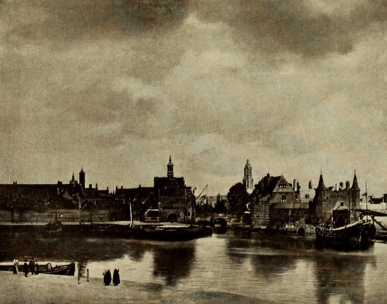 A Wanderer in Holland - View of Delft. Jan Vermeer (Mauritshuis) From a Photograph by Franz Hanfstaengl (1905)