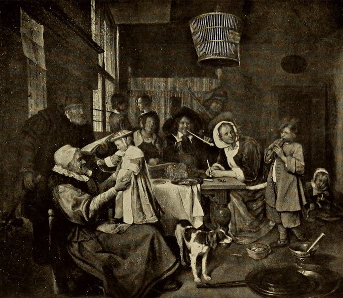 A Wanderer in Holland - The Steen Family. Jan Steen (Mauritshuis) From a Photograph by Franz Hanfstaengl (1905)