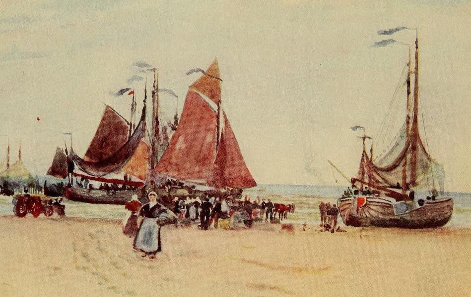 A Wanderer in Holland - On the Beach, Scheveningen (1905)