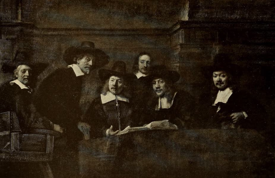 A Wanderer in Holland - The Syndics. Rembrandt (Ryks) From a Photograph by Franz Hanfstaengl (1905)