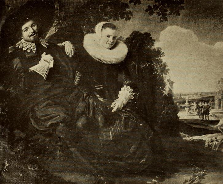 A Wanderer in Holland - The Painter and His Wife (?). Frans Hals (Ryks) From a Photograph by Franz Hanfstaengl (1905)