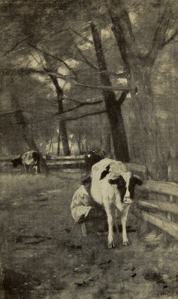 A Wanderer in Holland - Milking Time. Anton Mauve (1905)