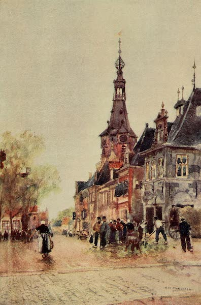 A Wanderer in Holland - Market Place, Weigh-house, Hoorn (1905)