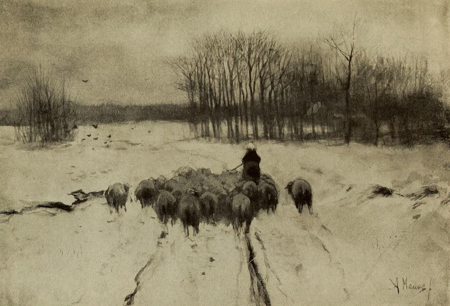 A Wanderer in Holland - The Shepherd and His Flock. Anton Mauve (1905)