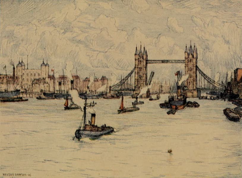 A Wanderer in London - The Tower and the Tower Bridge (1906)