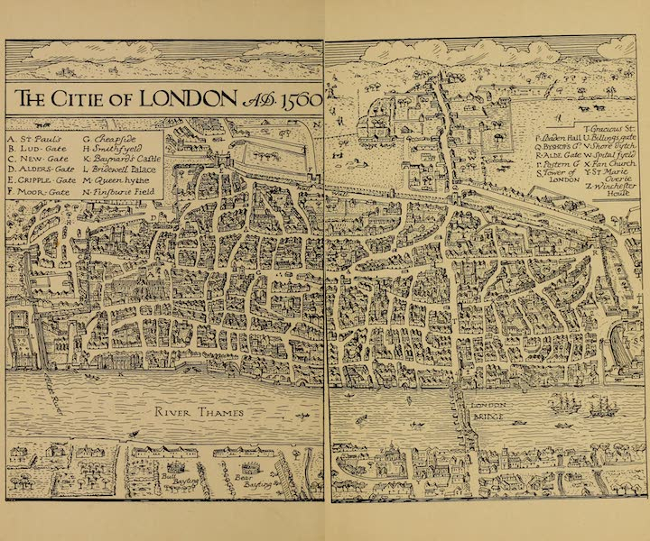 A Wanderer in London - The Citie of London, A.D. 1560 (1906)