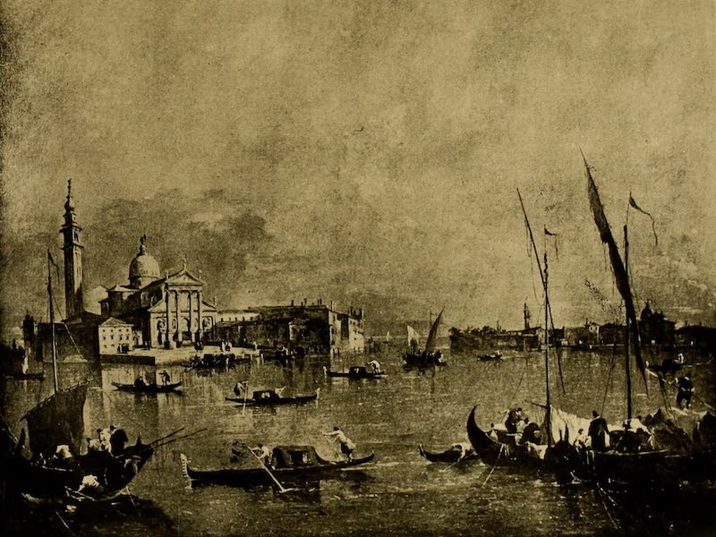 A Wanderer in London - San Giorgio Maggiore, Venice. Francesca Guardi (Wallace Collection) (1906)