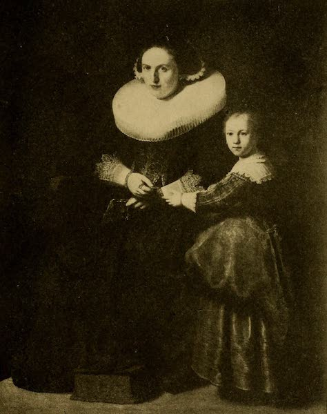 A Wanderer in London - Suzanne van Collen and her Daughter. Rembrandt (Wallace Collection) (1906)