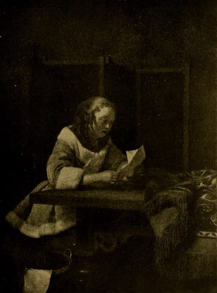 A Wanderer in London - Lady Reading a Letter. Gerard Terburg (Wallace Collection) (1906)