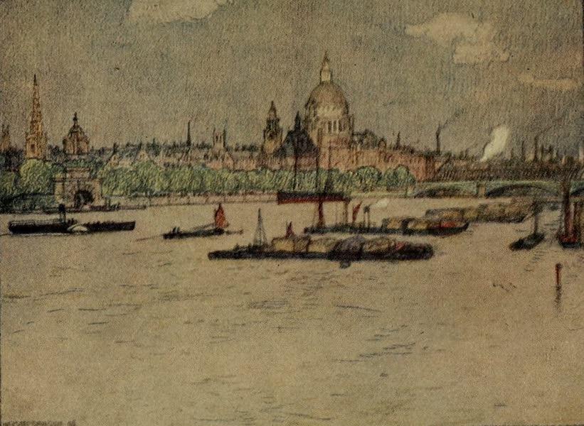 A Wanderer in London - The City from Waterloo Bridge (1906)