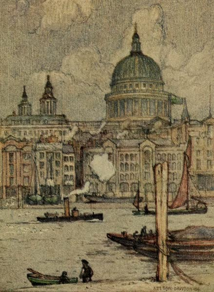 A Wanderer in London - St. Paul's from the River (1906)