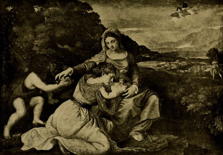 A Wanderer in London - Virgin and Child. Titian (National Gallery) (1906)