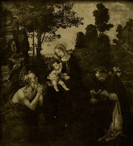 A Wanderer in London - Virgin and Child. Filippino Lippi (National Gallery). From a Photograph by W. A. Mansell & Co. (1906)