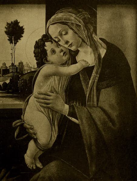 A Wanderer in London - Virgin and Child. Botticelli (National Gallery) (1906)