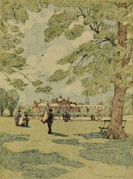 A Wanderer in London - Kensington Palace from the Gardens (1906)