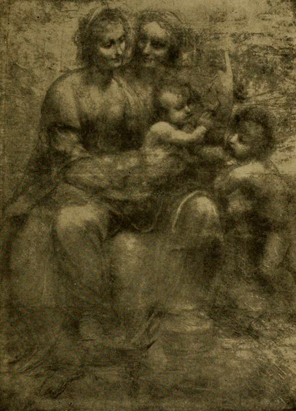 A Wanderer in London - Holt Family. Leonardo da Vinci (Diploma Gallery). From a Photograph by F. Hollyer. (1906)
