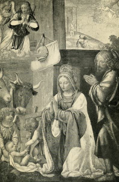 A Wanderer in Paris - The Nativity. Luini (Louvre) From a Photograph by Mansell (1909)