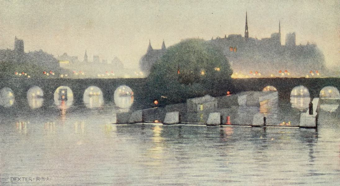 A Wanderer in Paris - The Ile de la Cité from the Pont des Arts (1909)