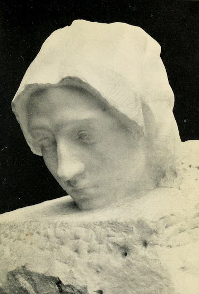 A Wanderer in Paris - La Pensée. Rodin (Luxembourg) From a Photograph by Neurdein (1909)