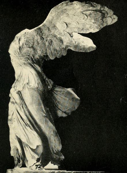 A Wanderer in Paris - The Winged Victory of Samothrace. (Louvre) From a Photograph by Giraudon (1909)