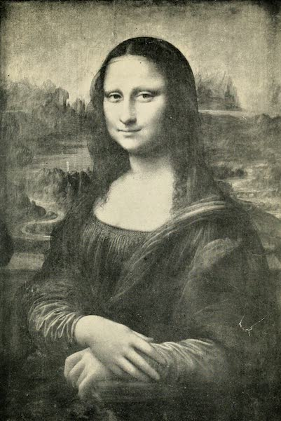 A Wanderer in Paris - La Joconde: Monna Lisa. Leonardo da Vinci (Louvre) From a Photograph by Neurdein (1909)