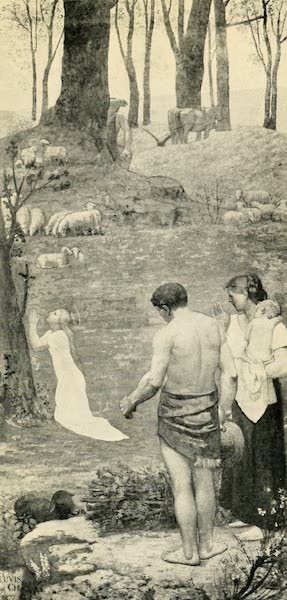 A Wanderer in Paris - Ste. Geneviève. Puvis de Chavannes (Panthéon) From a Photograph by Neurdein (1909)