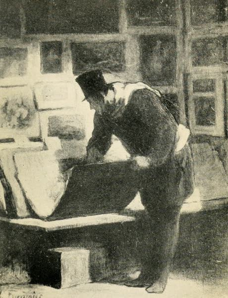 A Wanderer in Paris - L'Amateur d'Estampes. Daumier (Palais des Beaux Arts) (1909)