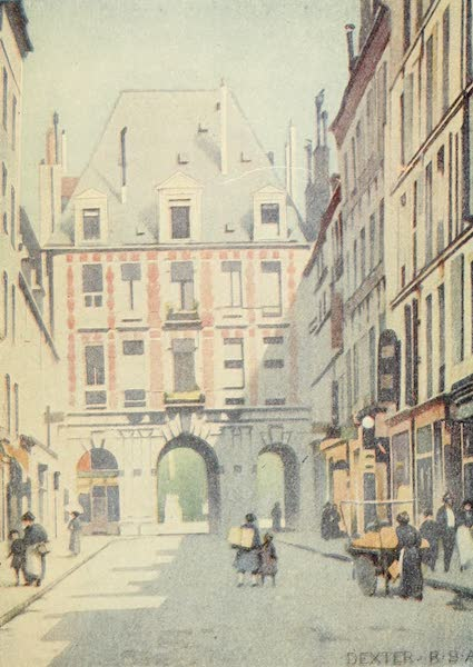 A Wanderer in Paris - The Place des Vosges, Southern Entrance (1909)