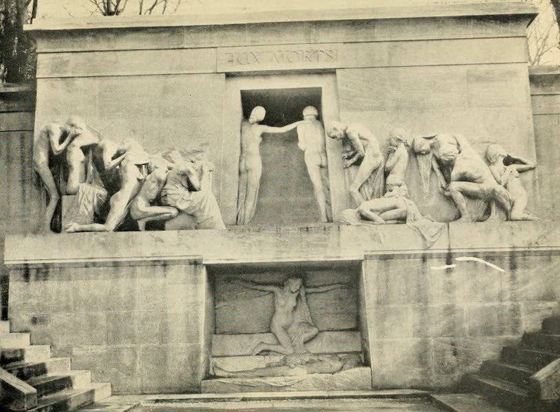 A Wanderer in Paris - Le Monument aux Morts. A. Bartholomé (Père la Chaise) From a Photograph by Neurdein (1909)