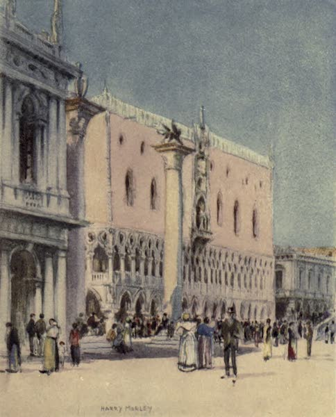 A Wanderer in Venice - The Corner of the Old Library and the Doges' Palace (1914)