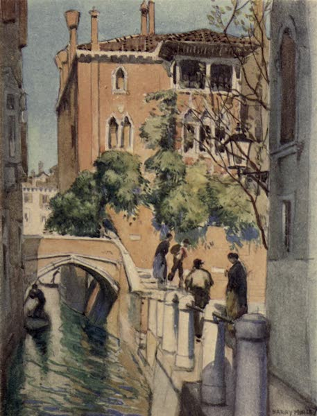 A Wanderer in Venice - The Rio Torreselle and Back of the Palazzo Dario (1914)