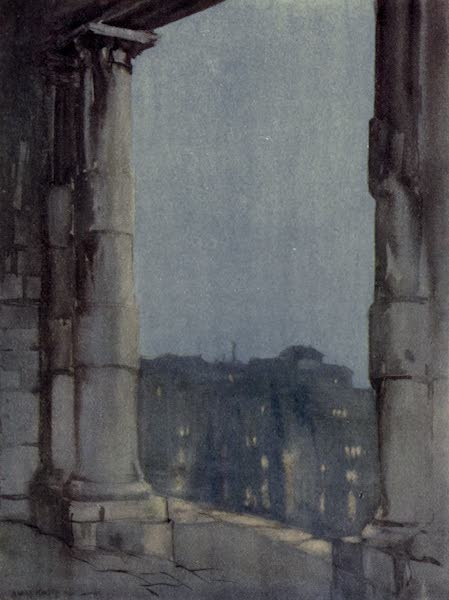 A Wanderer in Venice - View from the Dogana at Night (1914)