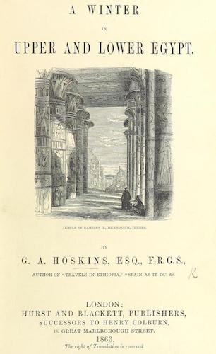 Aquatint & Lithography - A Winter in Upper and Lower Egypt