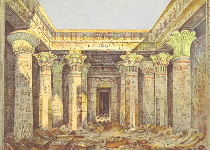 A Winter in Upper and Lower Egypt - Interior of the Temple of Philae (1863)