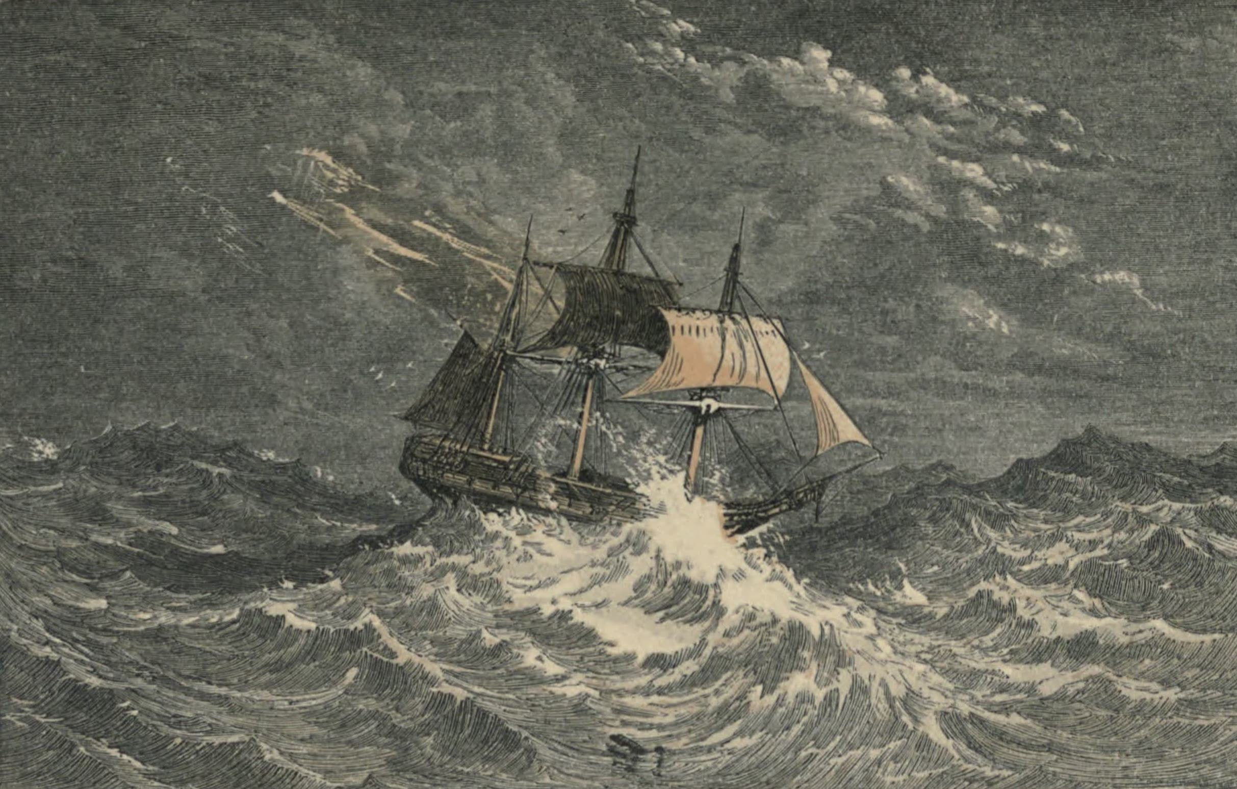 A Woman's Journey Round the World - Storm in the Atlantic (1852)