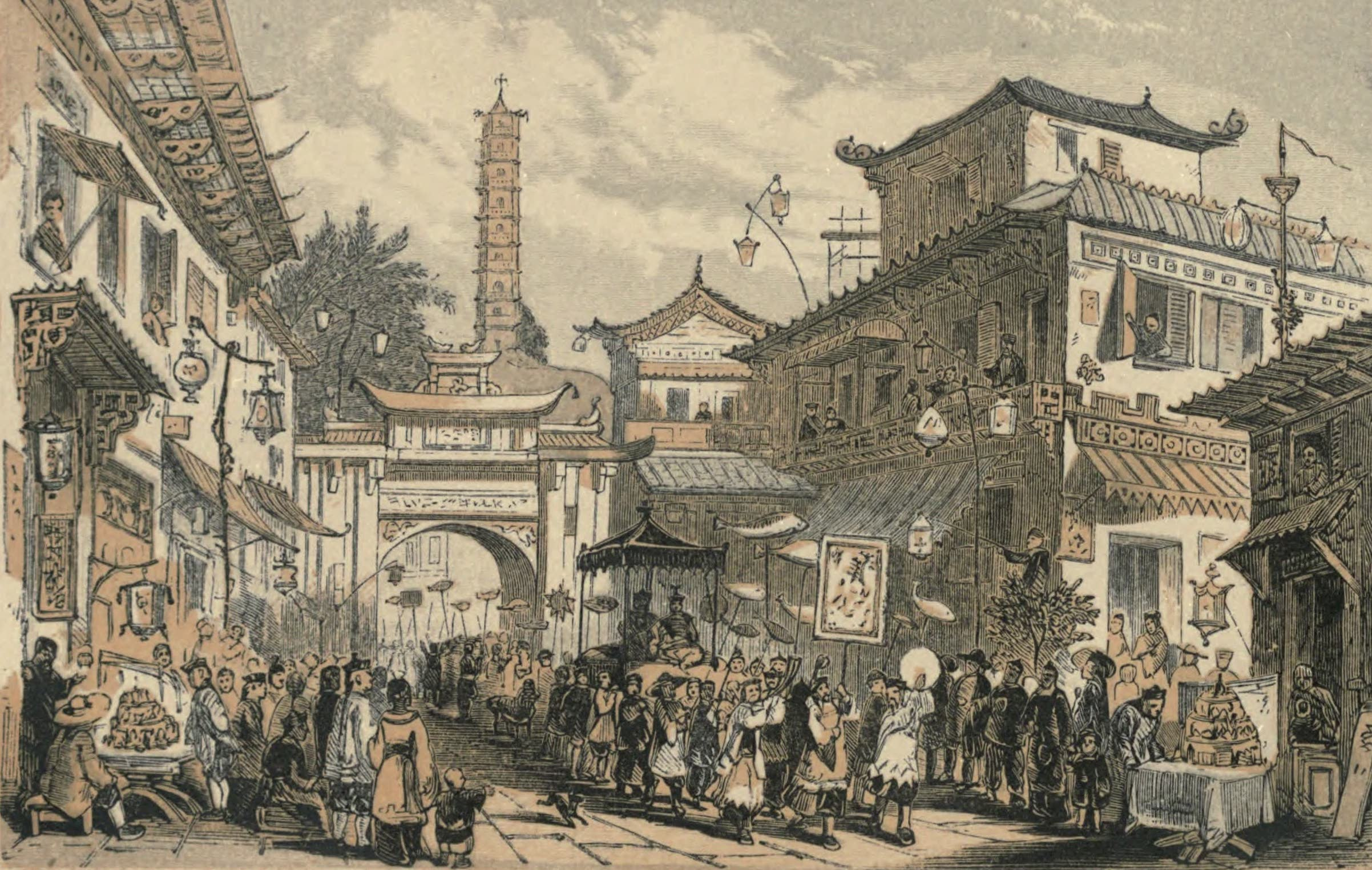 A Woman's Journey Round the World - Chinese Feast of Laterns (1852)
