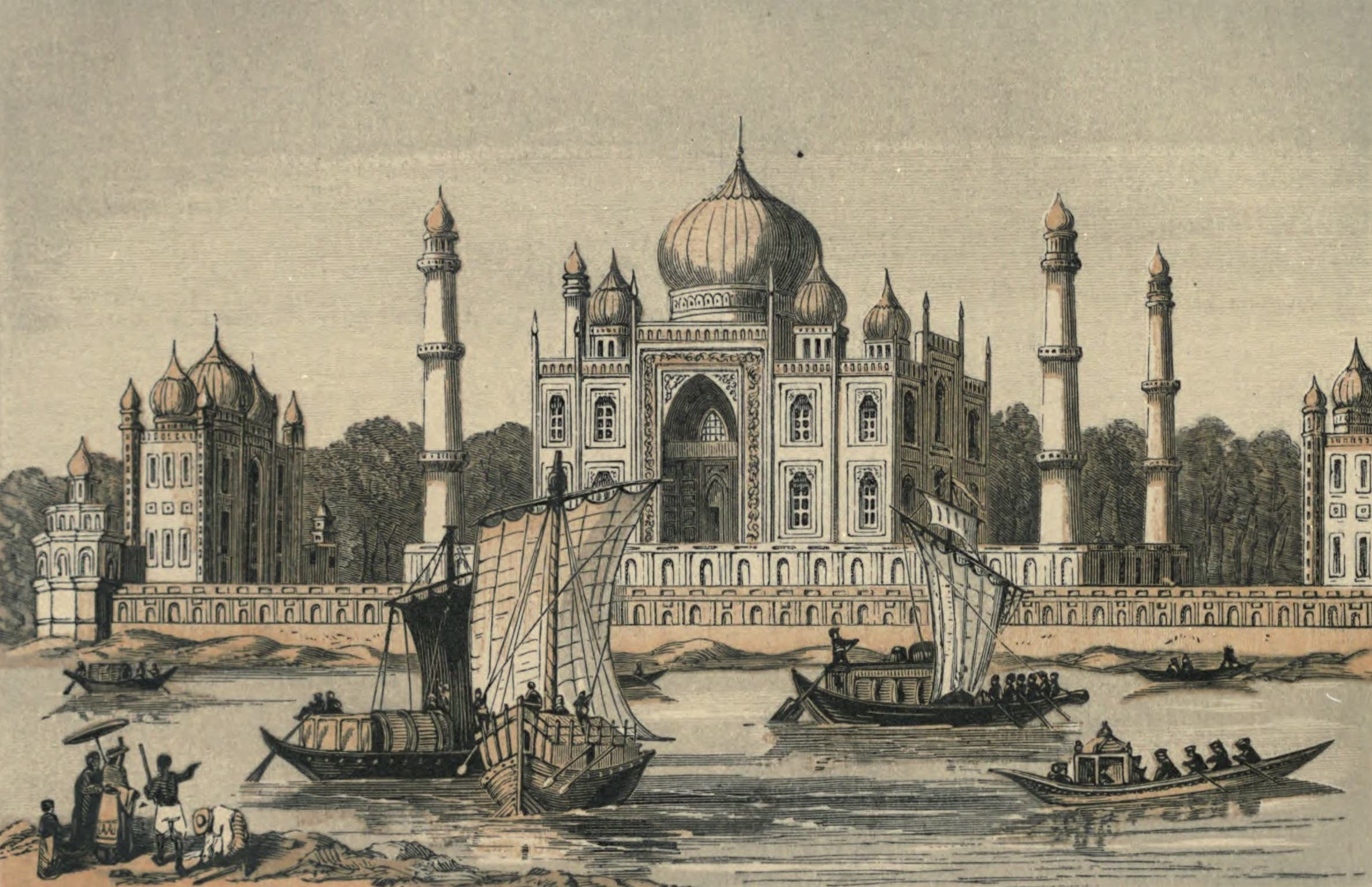 A Woman's Journey Round the World - The Taj Mehal (1852)
