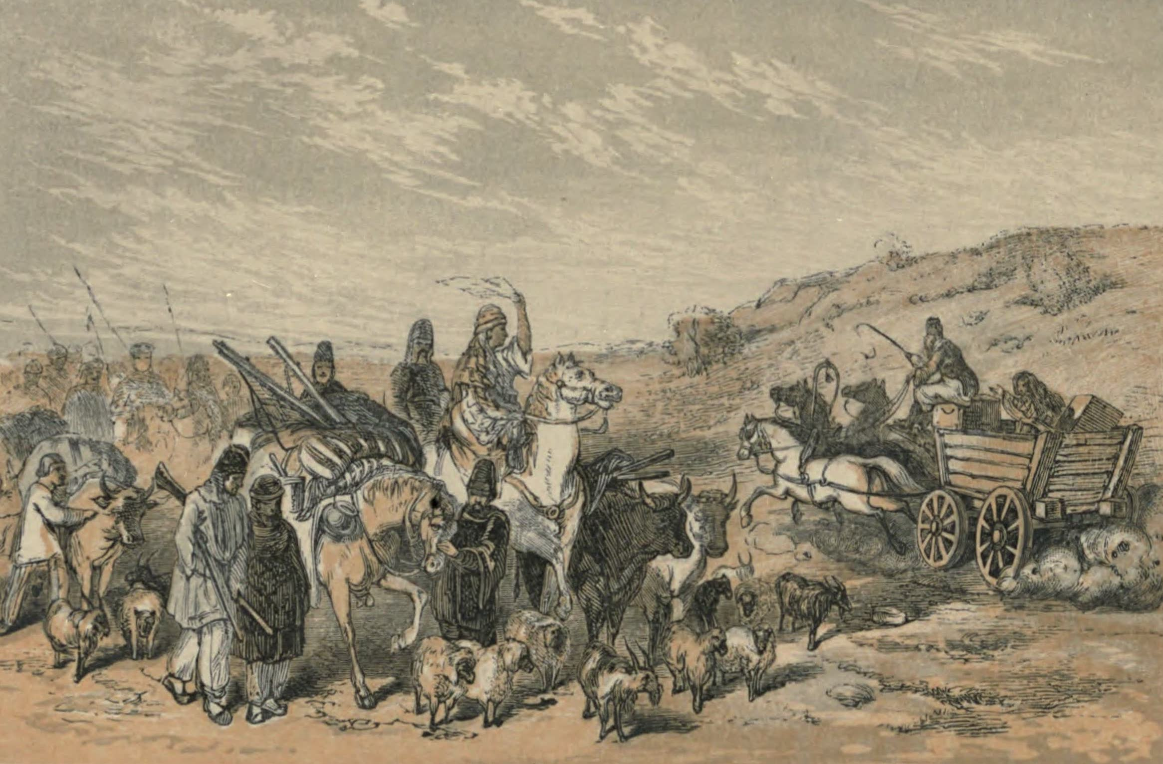 A Woman's Journey Round the World - A Migrating Horde of Tartars (1852)