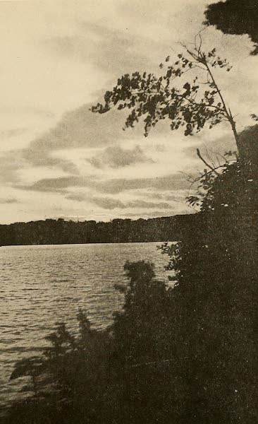 A Wonderland of the East - Sunset on Forked Lake, in the Adirondacks (1920)