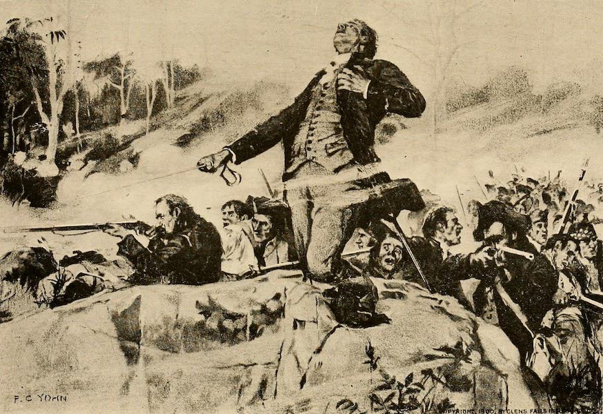 """A Wonderland of the East - Death of Colonel Ephraim Williams, in """"The Bloody Morning Scout,"""" September 8, 1755 (1920)"""