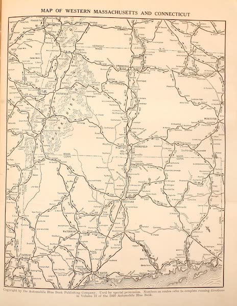 A Wonderland of the East - Map of Western Massachusetts and Western Connecticut (1920)