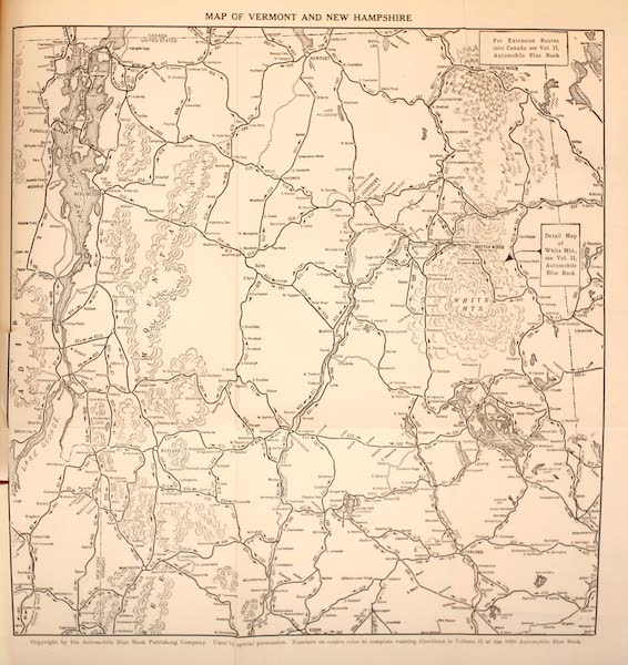 A Wonderland of the East - Map of Vermont and New Hampshire (1920)