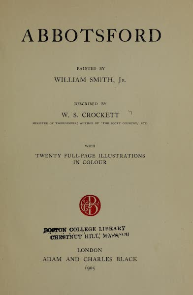 Abbotsford Painted and Described - Title Page (1905)