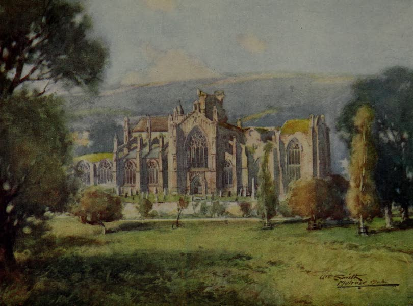 Abbotsford Painted and Described - The Abbey, Melrose (1905)