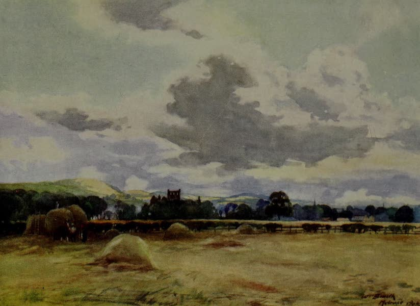 Abbotsford Painted and Described - Melrose Abbey from the Meadows (1905)