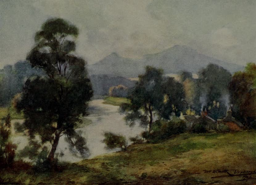 Abbotsford Painted and Described - The Eildon Hills and River Tweed (1905)
