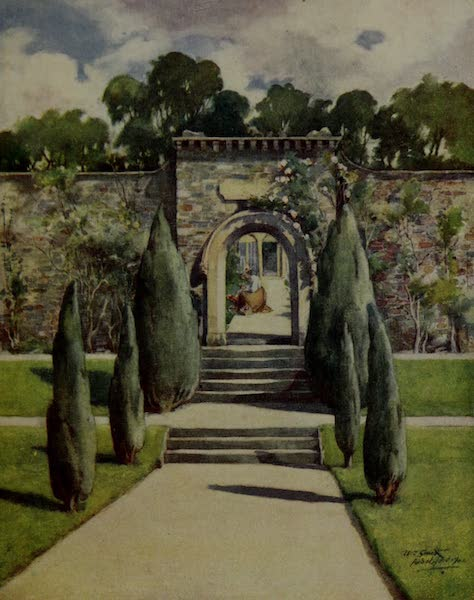 Abbotsford Painted and Described - The Garden, Abbotsford (1905)