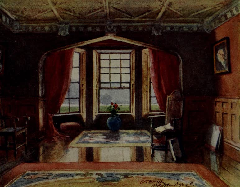 Abbotsford Painted and Described - The Dining-room, Abbotsford (1905)