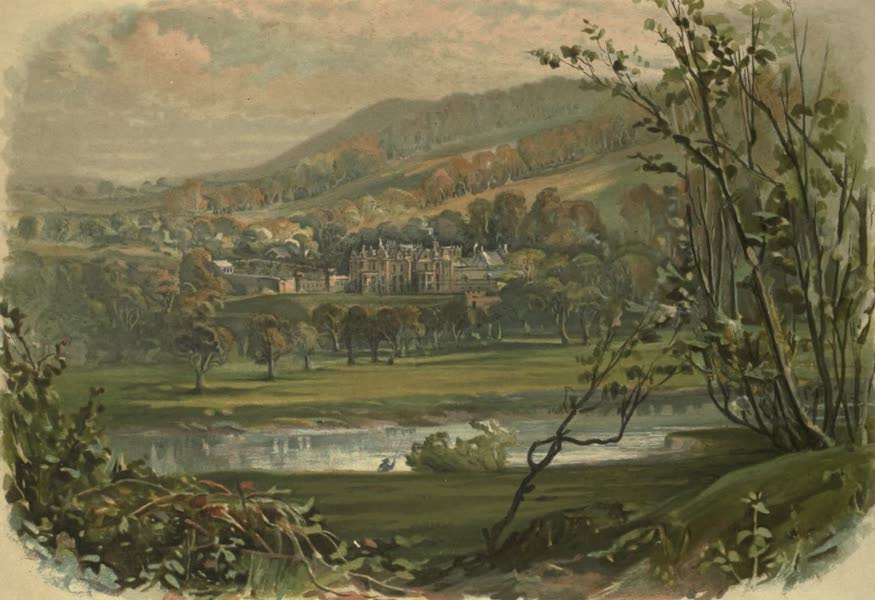 Abbotsford; The Personal Relics and Antiquarian Treasures of Sir Walter Scott - View of Abbotsford from the North Bank of the Tweed (1893)