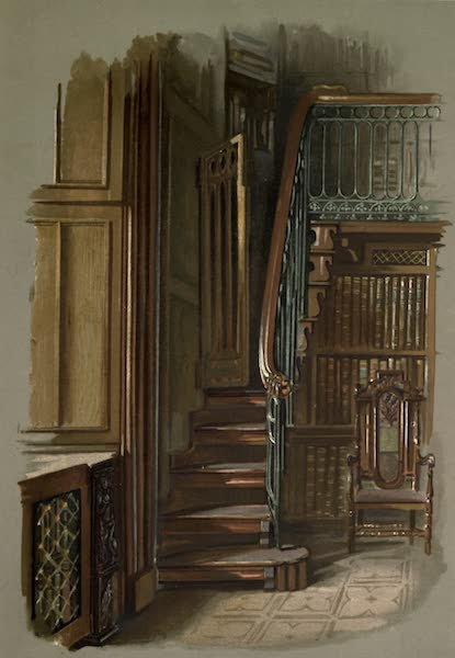 Abbotsford; The Personal Relics and Antiquarian Treasures of Sir Walter Scott - Staircase in the Study (1893)